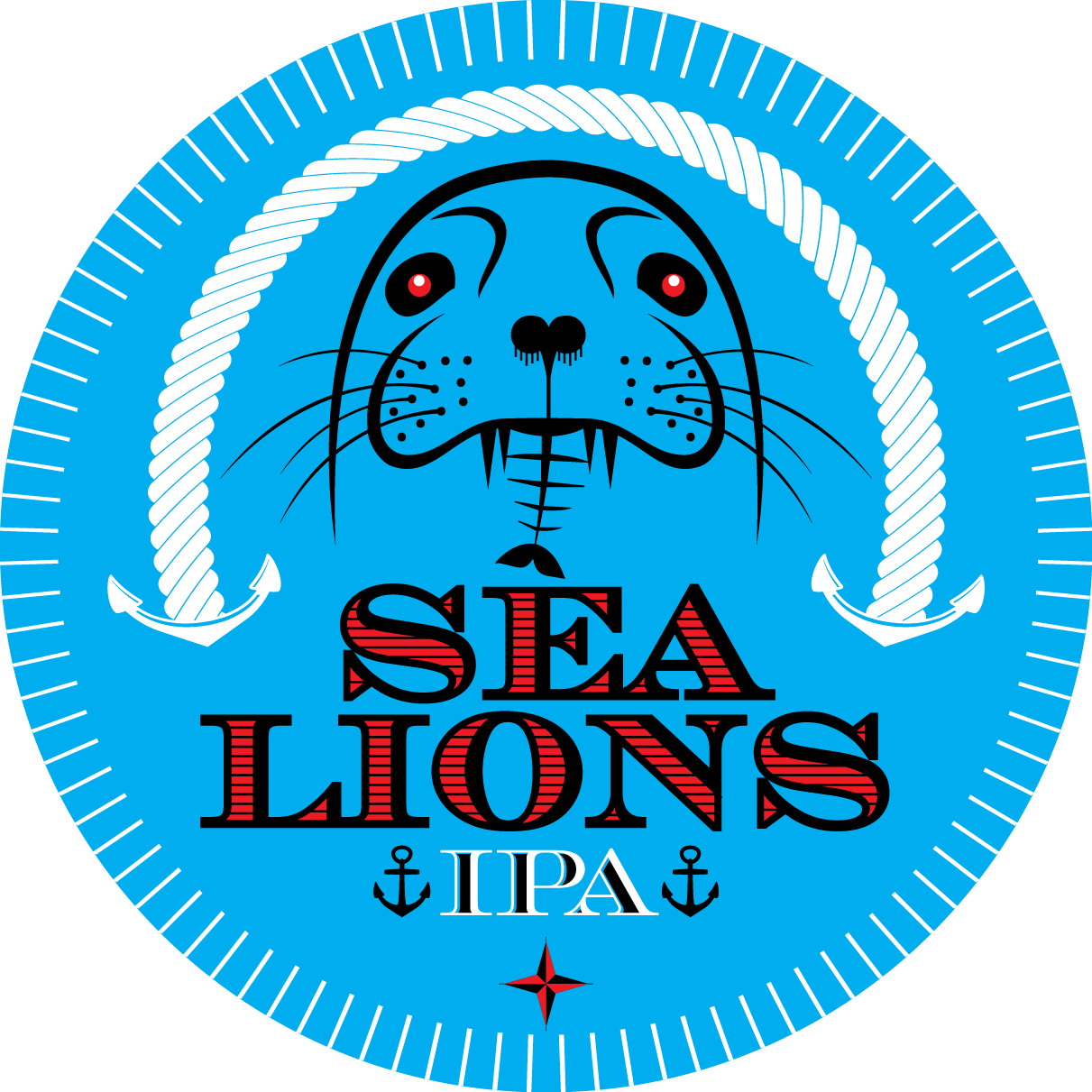 Animal army brewery sea lions ale logo